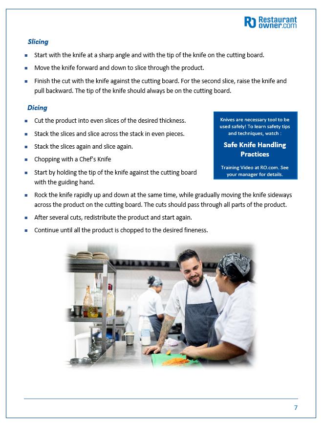 Restaurant Kitchen Manual 2207b