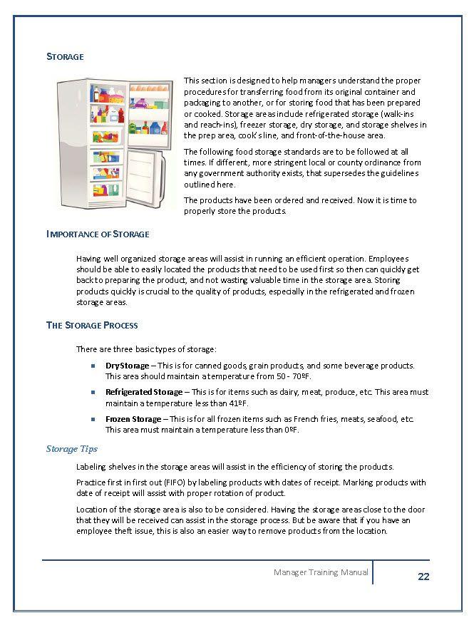 restaurant manager training manual template rh restaurantowner com New Supervisor Handbook Supervisor Training Manual Template
