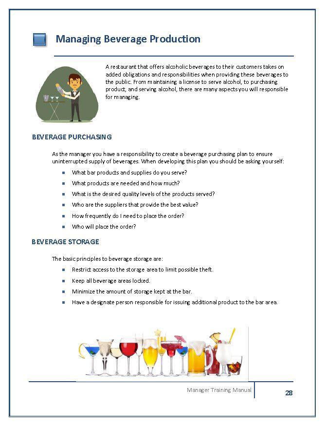 Restaurant Manager Training Manual Template – Sample Training Manual