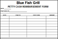 petty cash forms