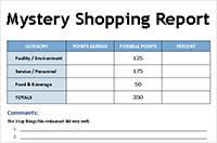 Mystery Shopper Report