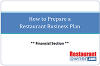 Restaurant business plan template download how to prepare a restaurant business plan financial section fbccfo Image collections