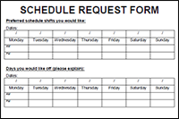 Employee Schedule Request Form