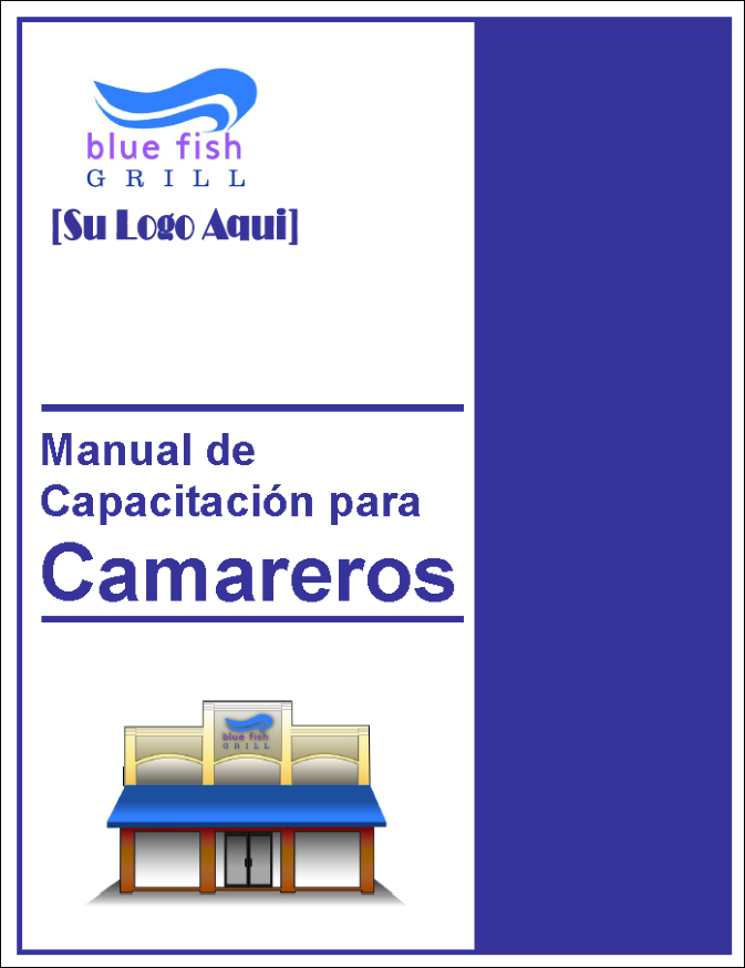 Restaurant Training Manual Templates Spanish Edition – Training Manual Cover Page