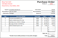 Download The Purchase Order Form  Purchase Order Formats