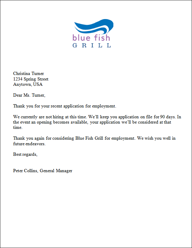 Application response letter template download the application response letter template expocarfo Choice Image