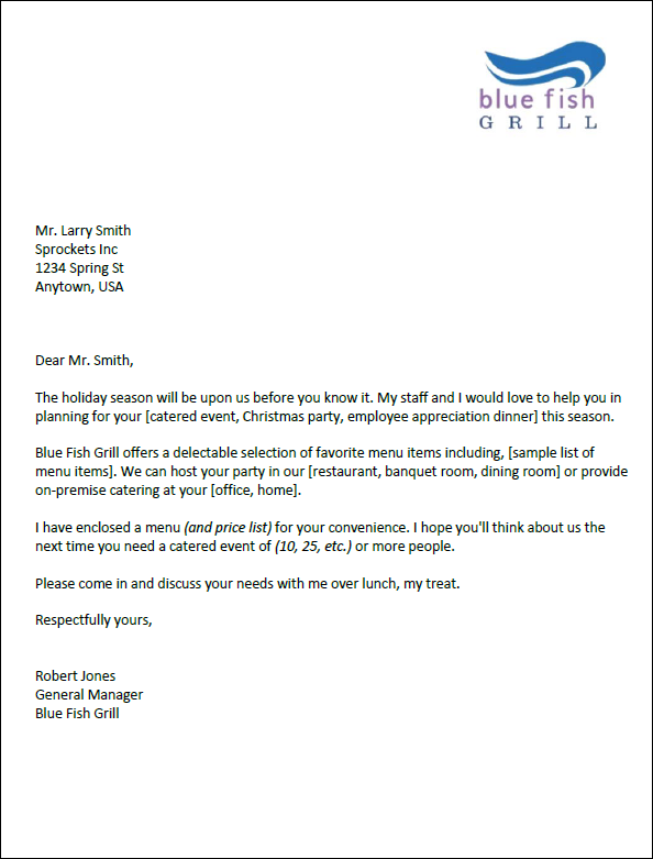 Delightful Download The Catering Marketing Letter Templates And Marketing Letter Format
